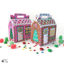 Have your student colour each picture of furniture. Color Your Own Gingerbread House Treat Box Crafting Cheerfully