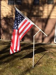 rotating pvc flag pole kit with choice of flag rv camping nascar