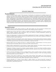 Athletic Director Resume Examples