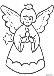 coloring page   christmas angel and candle   coloring me