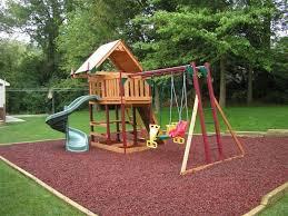 Back Yard Playsets Idea | Backyard Playground Ideas slides-and-swing- backyard-