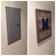 best 25 electric box ideas on pinterest electrical breaker box Another Word For Fuse Box pallet monogram electrical box cover add key hooks if by the door! other word for fuse box