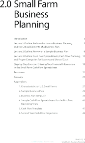 Small Business Plan Template Sample Proposal Pdf Outline