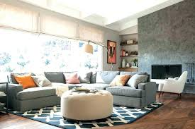 grey couch beige walls rug for leather sectional living room contemporary with gray