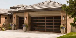 aluminum glass garage doors for modern house