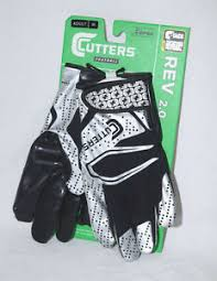 Details About Cutters Rev 2 0 Football Receiver Gloves S251 Black Sizes Adult Small Medium