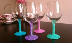 view in gallery pastel paint and glitter stem glasses