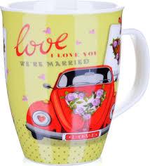 <b>Кружка Loraine Love</b>, цвет: белый, желтый, красный, <b>340</b> мл ...