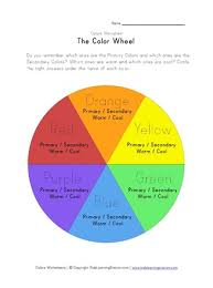 The color wheel, a part of color theory, is divided into warm and cool colors. Color Wheel Worksheet All Kids Network