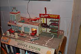 Image result for 1950 toy gasoline station two story