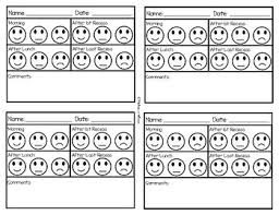 Editable Behavior Chart Happy Okay Sad Face Positive Reinforcement