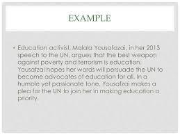 rhetorical analysis essay ppt 4 example education