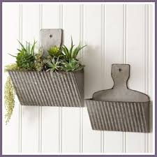 farmhouse decor metal wall planters