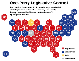 Congress Seating Chart State Of The Union In 2019 All But One State Legislature Is Controlled By One