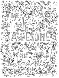 Surround yourself with inspiring quote coloring pages! Coloring Quotes Coloring Rocks