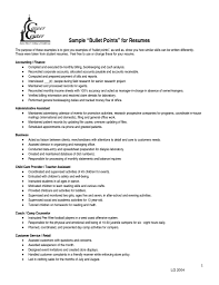 Resume Bullet Points Top Free Resume Samples Writing Guides