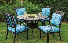 patio furniture dining set cast aluminum 42 or 48 round dining table 5pc charleston