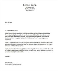 Letter Of Recommendation Customer Service Example Of Letter Of Recommendation 9 Samples In Word Pdf