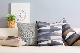Scandinavian decorative cushion covers Black and white throw pillow case  plaid geometric couch cushion cover 45x45cm for sofa -in Cushion Cover from  Home ...