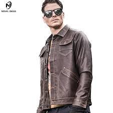 novel ideas military pilot leather jacket men army er motorcycle men jackets coats fashion men s jacket new brand clothing