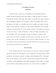 constructive living by david k reynolds discussion essay  4 a examination discussion