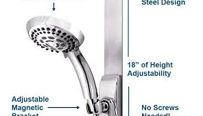 for parts grohe delta head shower alsons height soap dish kohler slide square adjule nickel mounting