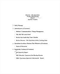 Staff Meeting Agenda Mesmerizing Staff Meeting Agenda Template Sample Pdf Deepwaters