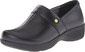 image of the work wonders by dansko womenu0027s camellia slip resistant shoe black leather stiff soled shoes e14