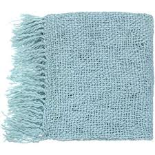 Spa Blue Throw Blanket