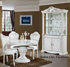 italian white furniture. prestige 2 door italian made display cabinet white with crystals furniture