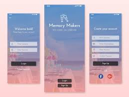 Sign Up Page For Event Management App By Prinkal Agarwal On