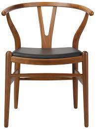 wegner style chair. Fine Style Hans J Wegner Style  CH24 Wishbone Y Dining Chair Leather Pad  SWIVELUKCOM On E