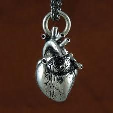 anatomical heart necklace antique