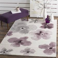 rug lavender bathroom rugs awesome safavieh adirondack fl watercolor ivory purple rug 4 x 6