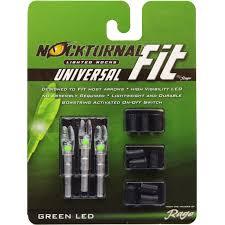 Lighted Knocks Nockturnal Fit Universal Size Green Lighted Nock 3 Pack Nt 305