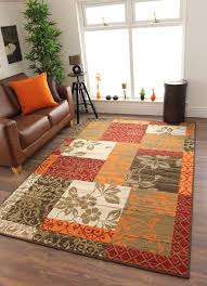 details about new warm red orange modern patchwork rugs brown red and orange rug