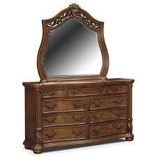 bedroom furniture morocco dresser and mirror pecan