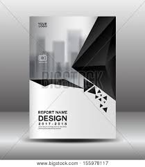 Flyer Black And White Cover Design Annual Vector Photo Free Trial Bigstock