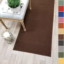 rug on carpet in hallway. Plain Hallway Custom Size BROWN Solid Plain Rubber Backed NonSlip Hallway Stair Runner Rug  Carpet 22 Intended On In E