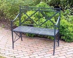 Garden metal furniture Contemporary Metal Garden Bench Ebay Shabby Chic Metal Garden Bench Antique Black Garden Seat Metal Garden Furniture Metal Garden Bench Ebay Gricoddinfo