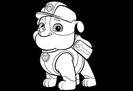 Rubble Paw Patrol Coloring Pages Get Coloring Pages