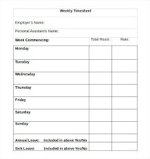More From Sheets Free Rate Sheet Template High Quality Weekly ...