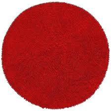 red circle rug hand woven chenille round circular rugs ikea grey and white