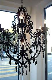 black and crystal chandelier canada