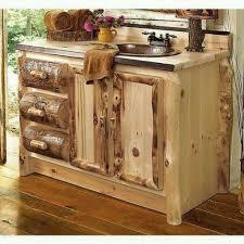rustic bathroom vanities. log rustic bathroom vanities