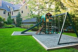 Amazing Playground Ideas For Backyard Backyard Playground Flooring Ideas  Schooldesign21