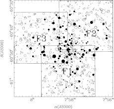 Finding Chart For Stars Brighter Than V 17 Mag The Size