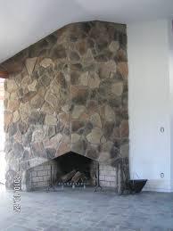 cottage style fireplace fieldstone veneer
