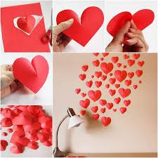 heart room decor on 3d paper heart wall art with heart room decor kemist orbitalshow