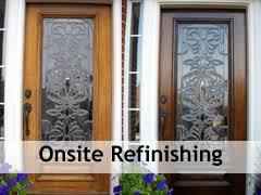 refinishing front doorOnsite Wood Door Refinishing  The Front Door Company